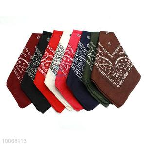 Wholesale pure cotton square printed kerchief for women