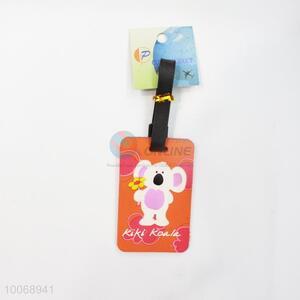 Cute Mouse Orange Flexible Glue Airline Luggage Tag