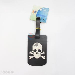 Black Skull Flexible Glue Airline Luggage Tag