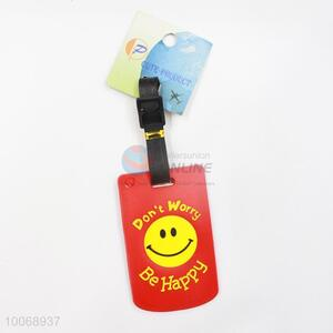 Smile Face Red Flexible Glue Airline Luggage Tag