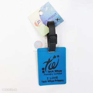 Blue Flexible Glue Airline Luggage Tag