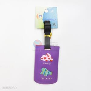 Purple Flexible Glue Airline Luggage Tag