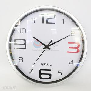 Simple round plastic wall clock