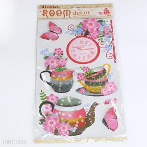 Tea set wall sticker