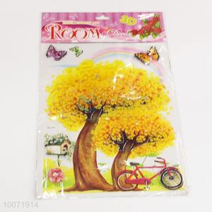 Yellow tree wall sticker