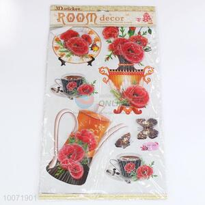 Wholesale tea set wall sticker