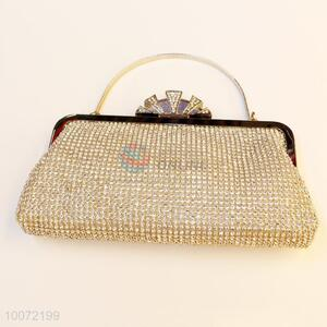 Exquise gold women party bag lady crystal clutch bag