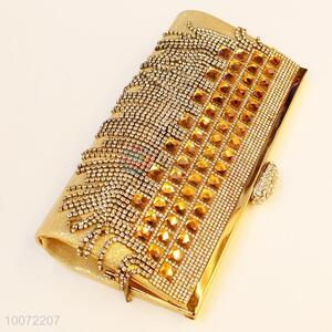 Crystal gold evening bag lady party bag  clutch bag