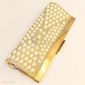 High quality gold evening bag party bag lady crystal clutch bag