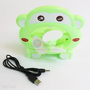 Personalize Green Monkey Cartoon Portable Fan/Small USB Fan