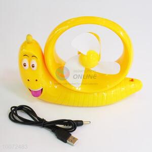 Wholesale Top Sales Yellow Banana Cartoon Portable Fan/Small USB Fan