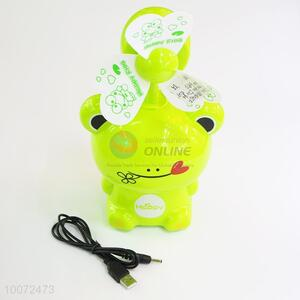 Competitive Price High Sales Frog Cartoon Portable Fan/Small USB Fan