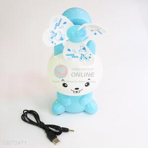High Sales Blue Rabbit Cartoon Portable Fan/Small USB Fan