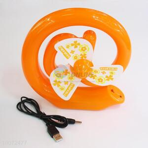 Newest Custom Fashionable Orange Round Cartoon Portable Fan/Small USB Fan