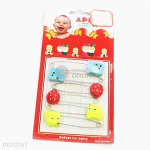 6pcs Cute Children Safety Pins Set