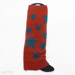 Popular Stars Jacquard Knitting Leg Warmers