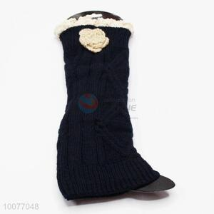 Ladies' Ruffles Lace Leg Warmers with Knitted Flower