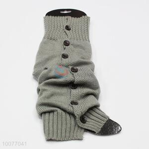 China Factory Winter Knitted Leg Warmers with Buttons