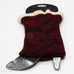 Popular Knitted Lace Leg Warmers for Winter