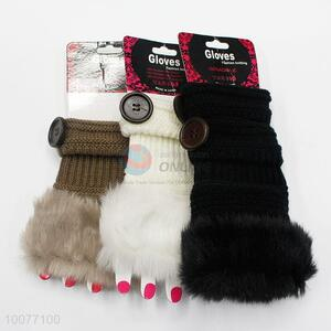 Top Selling Soft Warm Fingerless Gloves&Mittens with Button