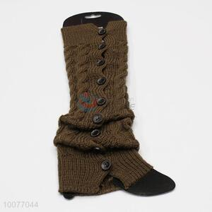 New Arrival Warm Knitted Leg Warmer with Buttons