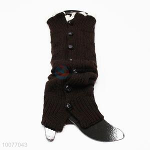 Popular New Winter Womens Knitted Leg Warmers with Buttons&Lace