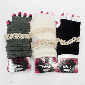 Popular Knitting Soft Fingerless Lace Mittens