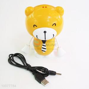 High Sales Yellow Bear Cartoon Portable Fan/Small USB Fan