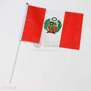 Peru flag, hand signal flag for festival or party