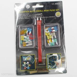 Assorted auto blade style mini fuse set