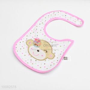Good quality cute bear embroidery baby saliva towel