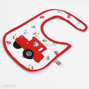 Red car embroidery baby saliva towel