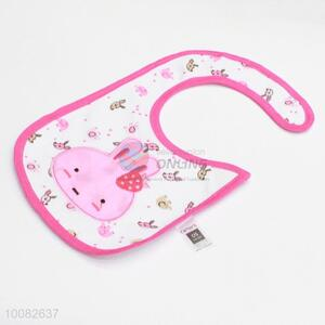 Pink rabbit embroidery baby saliva towel