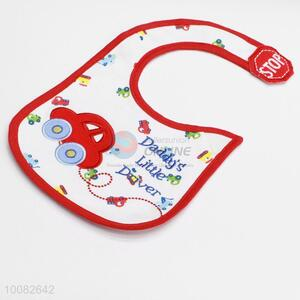 New design red car embroidery baby saliva towel