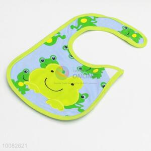 Cute frog embroidery baby saliva towel