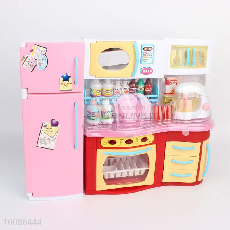 New Version Plastic Kitchen Palyset Toys Set With