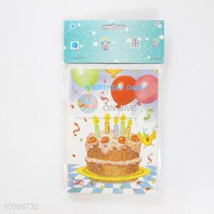 6 Pieces/Set Birthday Cake for Wishes Cards for Birthday