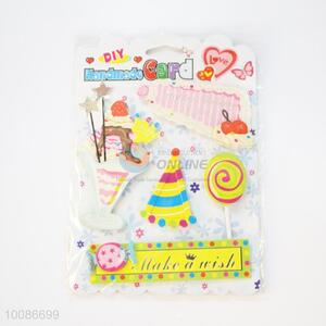 3D Ice Cream Pattern Birthday Card