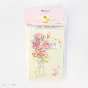 6 Pieces/Set Pink Rose Greeting Birthday Cards