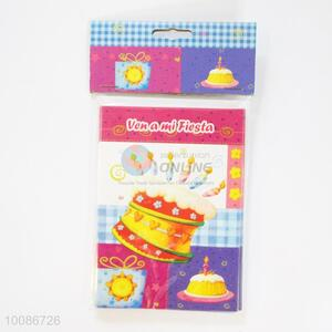 6 Pieces/Set Cute Cake Pattern Birthday Cards