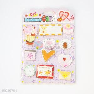 3D Cute Hearts Pattern Handmade Card for Birthday