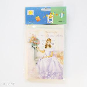 6 Pieces/Set Little Princess Greeting Birthday Cards