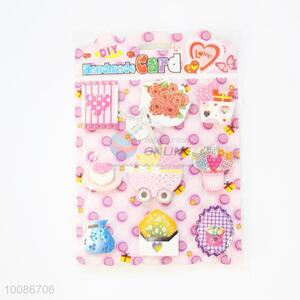 Pink Cartoon Patttern Greeting Birthday Card