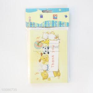 6 Pieces/Set Cartoon Pattern Birthday Cards