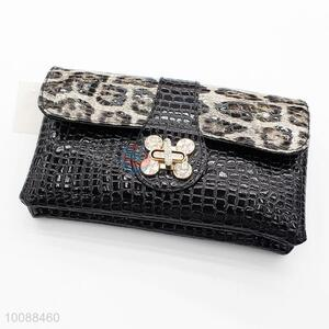 Women Clutch Bag Black Animal Skin Party Wedding Evening Bag