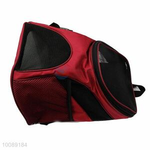 Red Breathable Polyester Shoulder Handbag