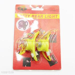 2 Pieces in 1 Set Yellow LED Bicycle Light