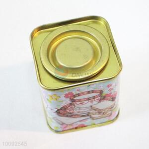 Wholesale creative packaging tin tea caddy