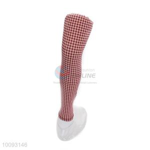 High sales beautiful red&white cute lattice leggings