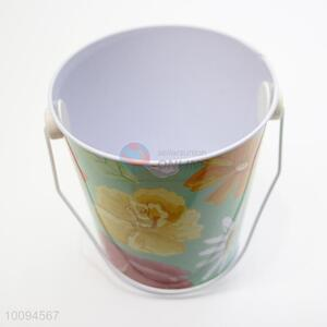 Exquisite flower mini tinplate bucket/garden bucket